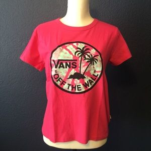 VANS Off the Wall Pink Graphic Tee